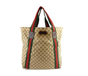 Gucci Shopper Gg Tote in Brown