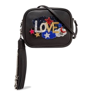 Saint Laurent Monogram Tassels New Blogger Glittered Shoulder Bag