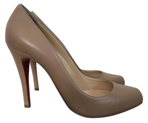 Christian Louboutin Leather Nude Pumps