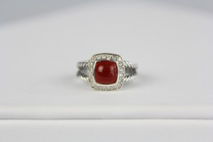 David Yurman Diamond Red Carnelian Albion Petite