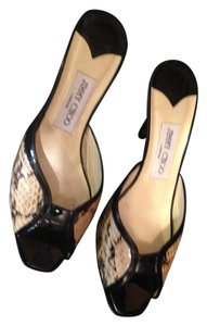 Jimmy Choo black & beige Sandals