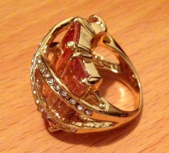 Other Chunky Citrine/yellow & Gold Colored Ring