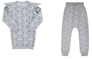 GARDNER AND THE GANG GARDNER AND THE GANG LEOPARD SWEATSHIRT TERRY PANTS SET 6-8 YEARS