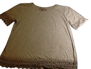 Ann Taylor LOFT T Shirt light gray