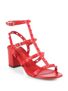 Valentino Rockstud Rogue Caged red Sandals