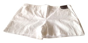 New York & Company Co 3 Inch Inseam Mini/Short Shorts White
