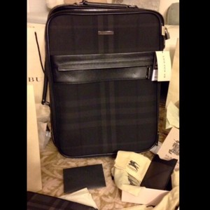Burberry Black Checkers Travel Bag