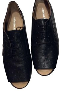 collection privee black leather Flats