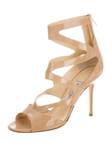 Jimmy Choo Caged Gladiator 8.5 Nude Sandals