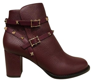 Valentino Rockstud Studded Stiletto Pump wine Boots