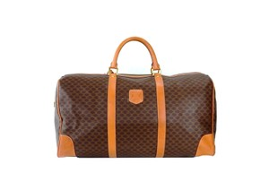 Céline Monogram Keepall Duffle Macadam Brown Travel Bag