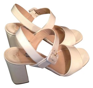 Prada Patent white Sandals