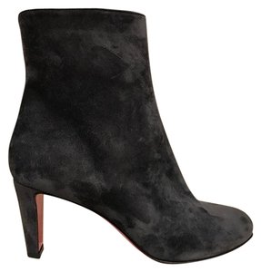 Christian Louboutin Fusain Suede Stiletto Pump grey Boots