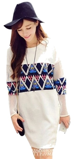 Preload https://item4.tradesy.com/images/white-hollow-out-sleeve-tunic-short-casual-dress-size-os-one-size-2056633-0-0.jpg?width=400&height=650