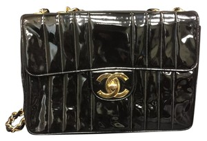 Chanel Maxi Vintage Patent 2.55 Jumbo Shoulder Bag