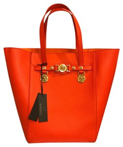 Versace Large Louis Vuitton Gucci Celine Chanel Tote in Orange