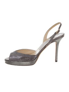 Jimmy Choo Metallic Pumps 7.5 Silver Sandals