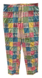 Brooks Brothers Capri/Cropped Pants Blue Pink Yellow Green