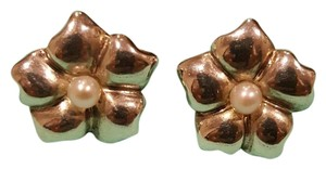Tiffany & Co. T&Co Vintage Flower pearl earrings