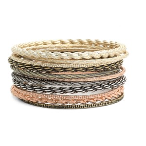 Kendra Scott Shallon Bangle Bracelet Set In Mixed Metals