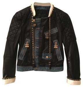 Dsquared2 Black and Blue Womens Jean Jacket