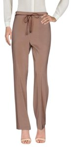 Brunello Cucinelli Silk Straight Pants nude