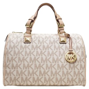 Michael Kors Satchel in Vanilla Monogram