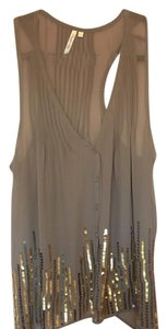 Petticoat Alley Top beige/grey gold & silver