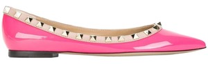 Valentino Patent Leather Rockstud Pink Flats