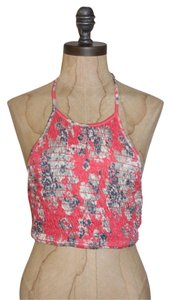Ecote Cate Smocked Crop Stretchy Top MULTI