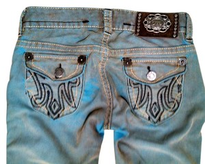 MEK DNM Jeans Corduroy Size 26 Boot Cut Pants blue