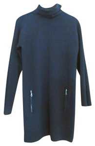 Joan Vass Knit Zipped Pockets Tunic