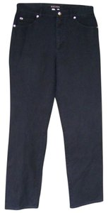 Escada Stretchy Pockets Zipper Straight Pants Black