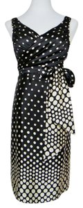 Ted Baker Silk Polka Dot Sleeveless Scoop V-neck Dress