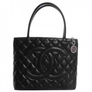 Chanel Medallion Caviar Tote in Black