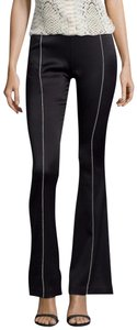 A.B.S. by Allen Schwartz Free Shipping Size 2 Skinny Flare Pants Black & Metallic Gold Piping