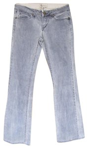 BCBGeneration Fancy Buttons Washable Boot Cut Jeans-Light Wash