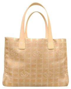 Chanel Travel Line Monogram Tote in Bronze shimmer pink