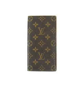 Louis Vuitton Porte Cartes Credit Monogram Canvas Leather Long Wallet