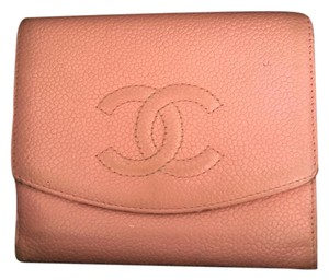 Chanel Auth. Chanel Pink Caviar Wallet