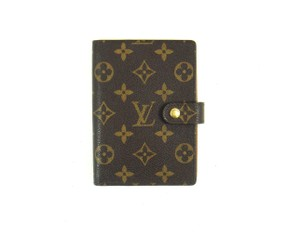 Louis Vuitton Monogram Canvas Leather Agenda PM Notebook Day Planner Cover