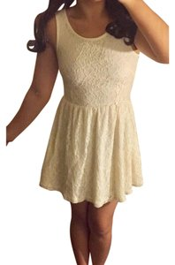 short dress cream white on Tradesy