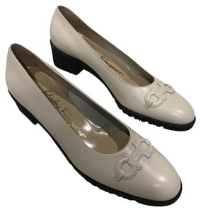Salvatore Ferragamo ivory Wedges