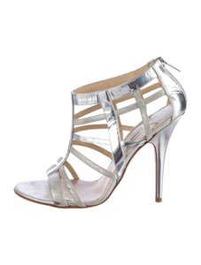 Jimmy Choo Multistrap Caged 9 Silver Sandals
