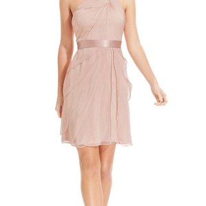 Adrianna Papell Blush Adrienne Papell One Shoulder Tiered Chiffon Dress Dress