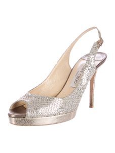 Jimmy Choo Metallic Clue 8.5 Gold Formal