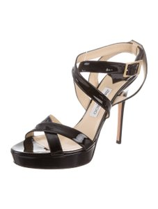 Jimmy Choo Vamp Multistrap Black Sandals