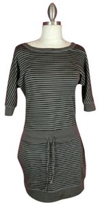 Jessica Simpson short dress Black Grey Striped on Tradesy