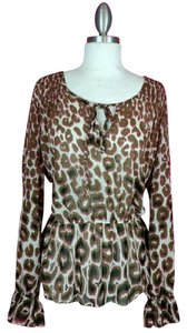 Other Leopard Top Brown Pink