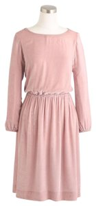 J.Crew short dress Velvet Blouson 3/4 Sleeve Pink on Tradesy